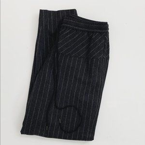 J. Crew Collection Gray Wool Striped Pants